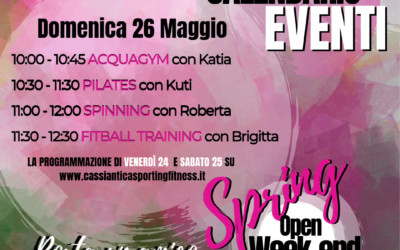 Open Weekend 24-25-26 Maggio